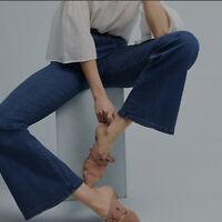 Pilcro & The Letterpress Anthropologie 27 Stet Flare Jeans Dark Wash