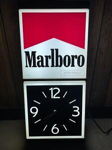 vintage marlboro lighted clock 1989 vertical Read