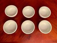 "6 Vintage Very Small Melamine Edward Don & Company Bowls Pastel Green 3""x1.5"""