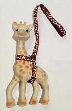 Toy Saver Strap for sophie the giraffe/fan fawn/toys* Brown/tan cow print thin