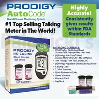 Prodigy Talking AutoCode Glucose Meter  - 100 glucose test strips + FREE METER