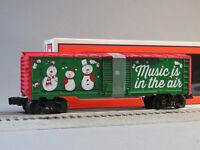 LIONEL CHRISTMAS MUSIC BOXCAR #18 O GAUGE holiday train santa carol 6-84748 NEW
