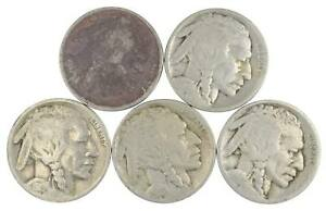 BETTER Lot 1916 1918 1919 1916 Worn Date Buffalo Nickel Collection *582