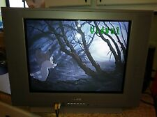 """SANYO DS20425 20"""" CRT ANALOG TV FLAT GAMING COLOR TELEVISION SNES NES GREY"""