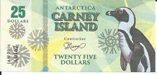 CARNEY ISLAND ANTARTIDA 25 DOLLARS 2016