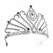 Silver Tiara Fan Design Plastic Ladies Fancy Dress Accessory Princess Queen
