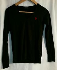 Women's Black Polo Ralph Lauren Long Sleeve Shirt Size Small