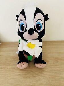 "Disney 10"" Flower The Skunk Bambi Plush Stuffed Animal Authentic Disney"