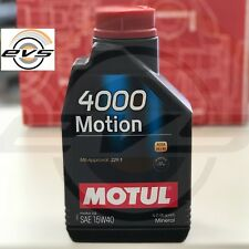 1 Lt Olio Motore Motul 4000 Motion 15W40 A3 B3 Auto Diesel e Benzina Minerale