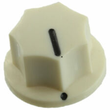 "Mini MXR style knob for guitar pedals amplifiers projects 1/4"" set screw - White"