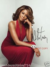 """Whitney Houston legendary singer Reprint Signed 8x10"""" Photo RP #1"""