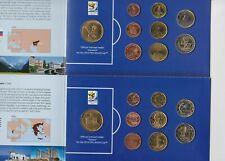More details for five south africa world cup circulation euro coin sets in card packs.