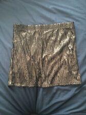 New Cotton On Women Mini Skirt Black Shinny Size10