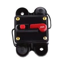 12V-24V DC Circuit Breaker Inline Fuse Inverter Waterproof Manual Reset 250 Amp