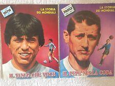 MONDIALI CALCIO BRASILE 1950 E ARGENTINA 1978 DUE FASCICOLI UNICI SPECIALI