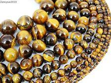 Natural Tiger's Eye Gemstone Round Beads 15.5'' 4mm 6mm 8mm 10mm 12mm 14mm 16mm