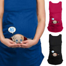 New Women's Handy Summer Plus Size Pregnant Clothes Tank Top Maternity Wear Vest