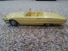 1965 FORD THUNDERBIRD YELLOW DEALER PROMO FRICTION CAR VINTAGE TOY PLASTIC