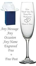 Personalised Champagne Flute, Birthday Gift 18th 21st 30th 40th 50th 60th 70th A