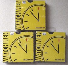 WATCHMEN COASTER SET NEW SEALED Dc Comic Neca 4 comedian book super hero movie