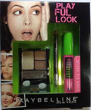 Maybelline Playful Look Mascara + Eyeliner +Eyeshadow SET NEW.