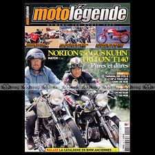 MOTO LEGENDE N°200-b YAMAHA RDLC 500 200 YCS NORTON 750 GUS KUHN TRITON T 140