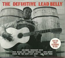 THE DEFINITIVE LEAD BELLY - 2 CD BOX SET - GOODNIGHT IRENE & MORE