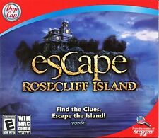 ESCAPE ROSECLIFF ISLAND Hidden Object PC & Mac Game CDE-ROM NEW
