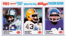 1982 Dallas Cowboys football cards errors complete set Kellogg's Kelloggs Kellog