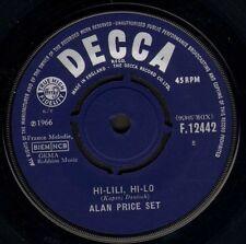 "ALAN PRICE SET hi lili hi lo/take me home F.12442 uk decca 1966 7"" WS VG/"