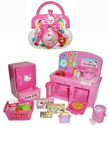 TWO Popular Hello Kitty Sets - Kitty Purse and Kitchen - Sold Together