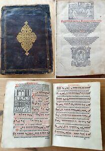 Inkunabel Exorzismus von Dämonen Anno 1560 Missale Lieder Noten Bibel komplett