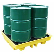 4 Drum Oil or Chemical Bunded Drip Sump Spill Pallet