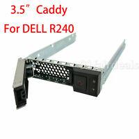 """New 3.5"""" SAS/SATA HDD Tray Caddy Bracket For Dell PowerEdge R340 R240 W/Screws"""