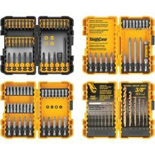 NEW DeWALT 100 Pc Pilot Point Drill Drive Bit Set with 4 Tough Cases! Impact