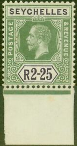 Seychelles 1918 2R25 Yellow-Green & Violet SG81 Fine MNH