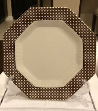 Independence Ironstone Interpace Japan Dinner Plates Brown