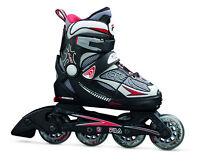 Fila X-One Black-Red Kinder  Inline Skates Gr. S (29-32) größenverstellbar-Sale