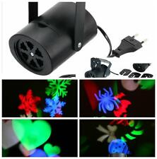 Christmas Party Rotating  LED Lights Projector RGB 4 Switchable Pattern Lens