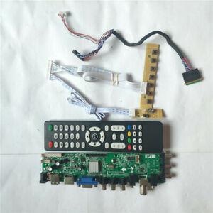 Fit LP156WH4 3663 TV digital  40pin LVDS screen AV HDMI VGA USB DVB driver board