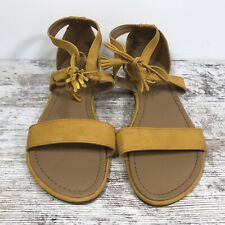 White Mountain Calice Gladiator Flat Sandals Mustard Yellow Size 8.5W