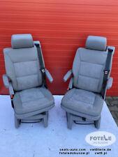 VW T5 Multivan Drehsitz Einzelsitz Sitz Leder | 2x single seat swivel Leather t6