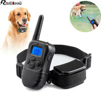 Dog Shock Training Collar Remote Rechargeable Waterproof 330 Yards Anti Bark