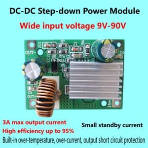 DC 9V-90V 84V 72V 60V 48V 36V zu 12V 3A Step-Down Netzteil Modul Wandler DE