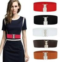 Retro Belt Simple Ladies Women Fashion Cinch Belt Elasticated Wide Stretch Waist