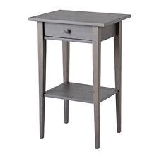 Ikea Hemnes Nightstand Table - Dark Gray Stained