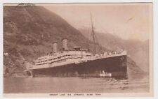 Postcard Orient Line ship S.S Otranto 1&1/2d brown KGV small multi watermark