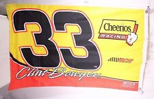 Clint Bowyer #33 NASCAR Cheerios Racing 5 x 7 Banner Flag Fathers Day Man Cave
