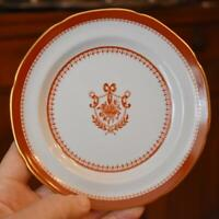 LOVELY VINTAGE SPODE COPELAND ENGLAND RED NEWBURYPORT BREAD PLATE #1 - HAVE 7