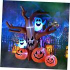 8 Ft Halloween Inflatable Dead Tree with Ghosts Pumpkins Decoration Blow up